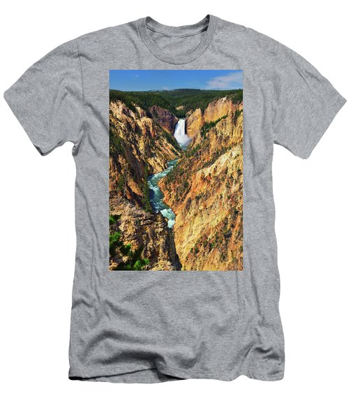 Yellowstone Grand Canyon From Artist Point Men's T-Shirt (Athletic Fit)