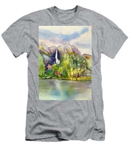 Yosemite Waterfalls Men's T-Shirt (Athletic Fit)