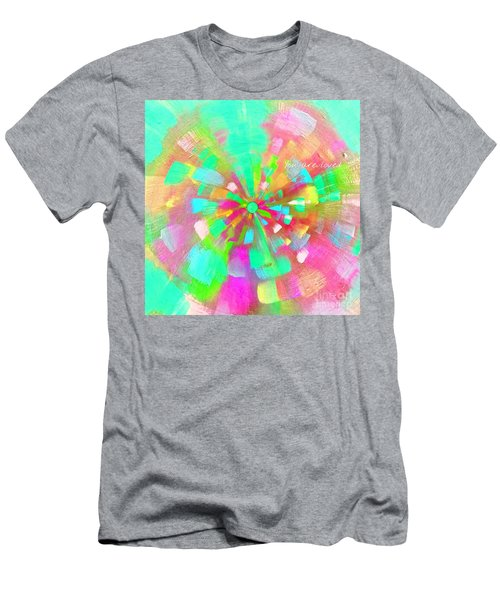 Men's T-Shirt (Athletic Fit) featuring the mixed media  You Are Loved by Jessica Eli