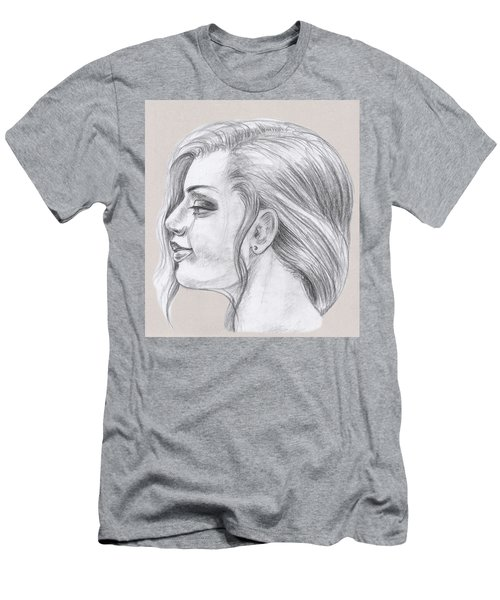 Young Woman Head Study Profile Men's T-Shirt (Athletic Fit)