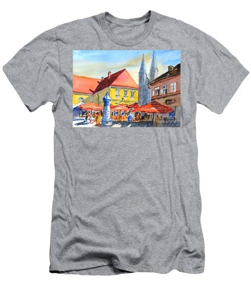 Zagreb Near Dolce Market Men's T-Shirt (Athletic Fit)