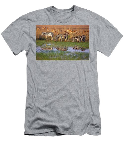 Zebras In Botswana Men's T-Shirt (Athletic Fit)