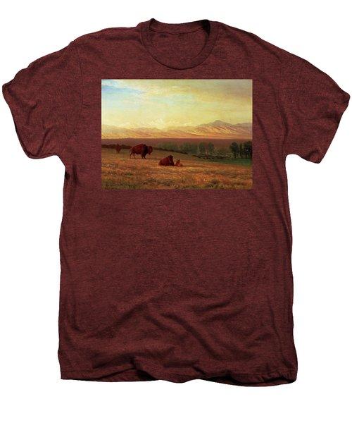 Buffalo On The Plains Men's Premium T-Shirt by MotionAge Designs