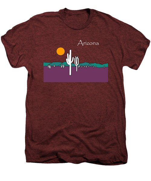 Desert Sunset Men's Premium T-Shirt by Methune Hively
