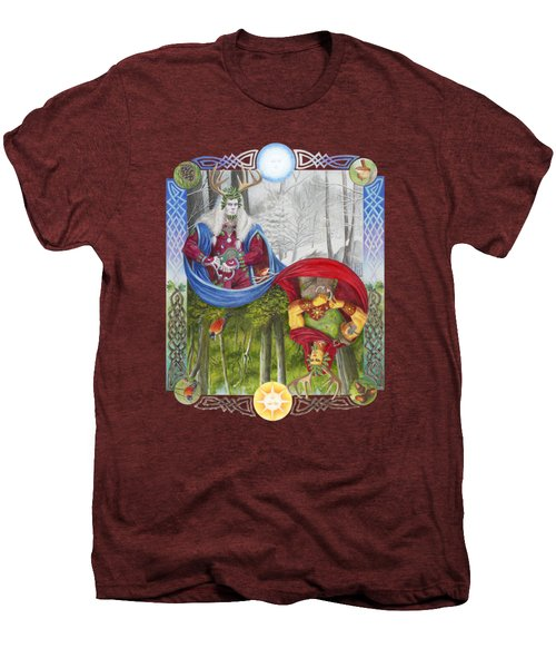 The Holly King And The Oak King Men's Premium T-Shirt by Melissa A Benson