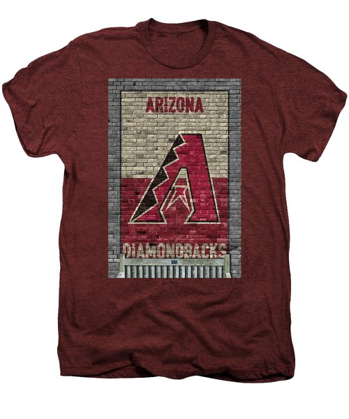 Arizona Diamondbacks Brick Wall Men's Premium T-Shirt by Joe Hamilton