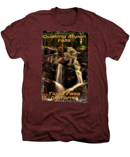 Quaking Aspen Falls Along Tioga Pass  Men's Premium T-Shirt by Roger Passman