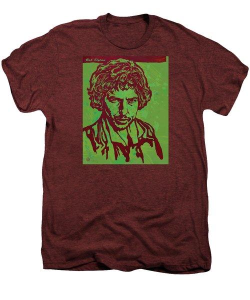 Bob Dylan Pop Art Poser Men's Premium T-Shirt by Kim Wang
