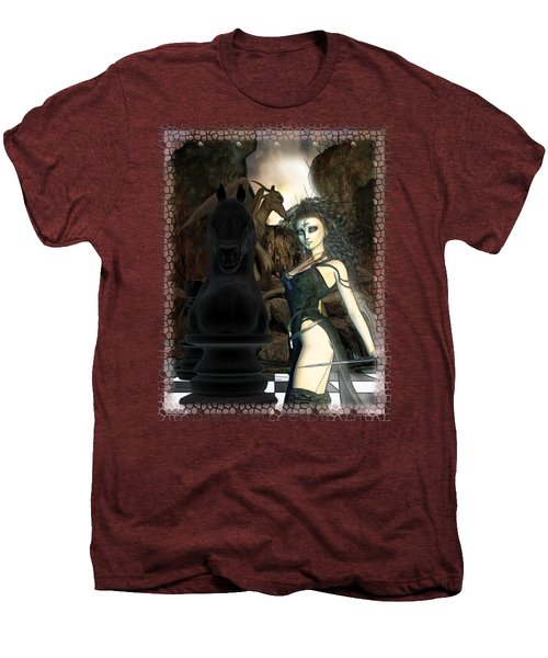 Chess 3d Fantasy Art Men's Premium T-Shirt by Sharon and Renee Lozen
