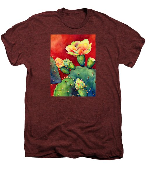 Desert Bloom Men's Premium T-Shirt by Hailey E Herrera