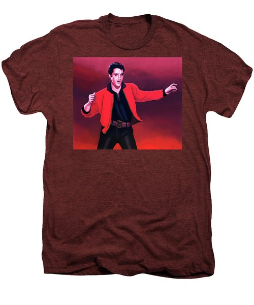 Elvis Presley 4 Painting Men's Premium T-Shirt by Paul Meijering