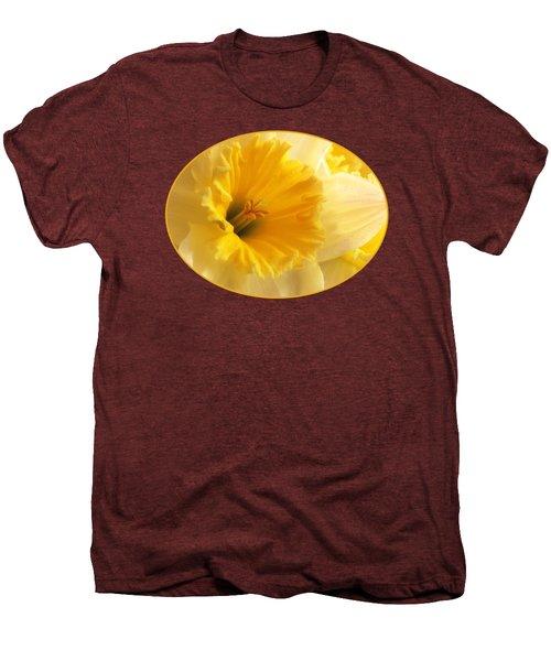 Focus On Spring - Daffodil Close Up Men's Premium T-Shirt by Gill Billington
