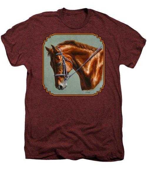 Horse Painting - Focus Men's Premium T-Shirt by Crista Forest