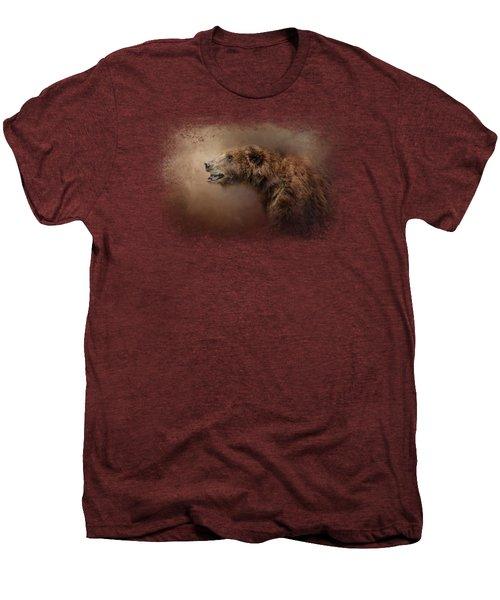 Morning Grizzly Men's Premium T-Shirt by Jai Johnson