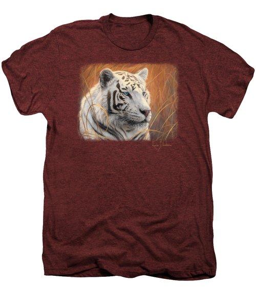 Portrait White Tiger 2 Men's Premium T-Shirt by Lucie Bilodeau