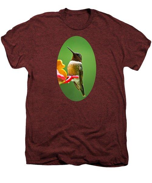 Rainy Day Hummingbird Men's Premium T-Shirt by Christina Rollo