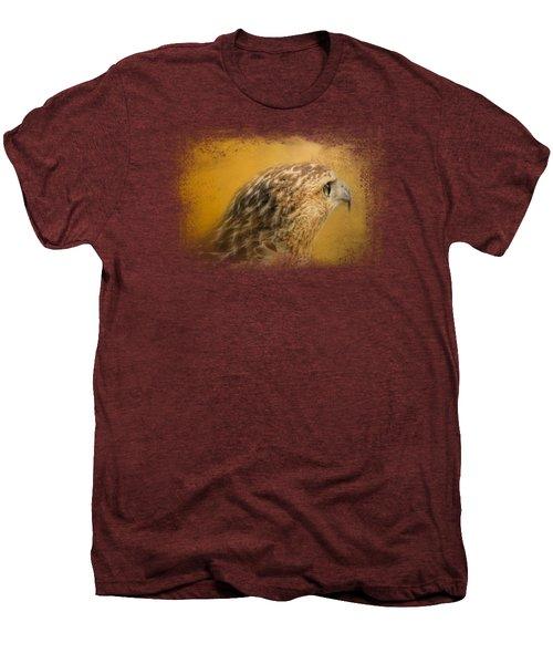 Red Tailed Hawk At Sunset Men's Premium T-Shirt by Jai Johnson