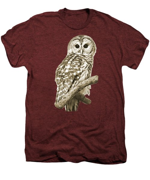 Sepia Owl Men's Premium T-Shirt by Christina Rollo
