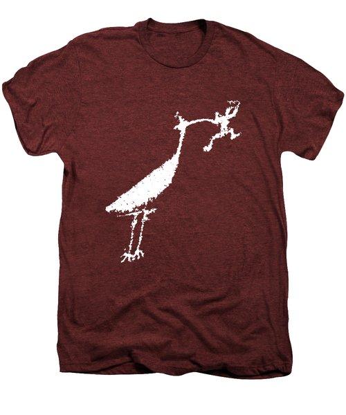 The Crane Men's Premium T-Shirt by Melany Sarafis