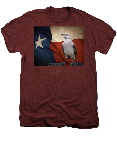 The State Bird Of Texas Men's Premium T-Shirt by David and Carol Kelly