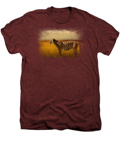 Tiger In The Golden Field Men's Premium T-Shirt by Jai Johnson