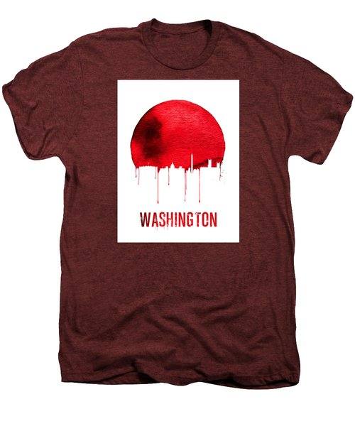 Washington Skyline Red Men's Premium T-Shirt by Naxart Studio