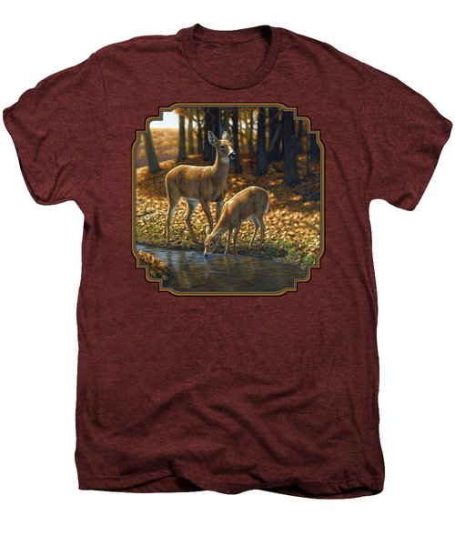Whitetail Deer - Autumn Innocence 1 Men's Premium T-Shirt by Crista Forest