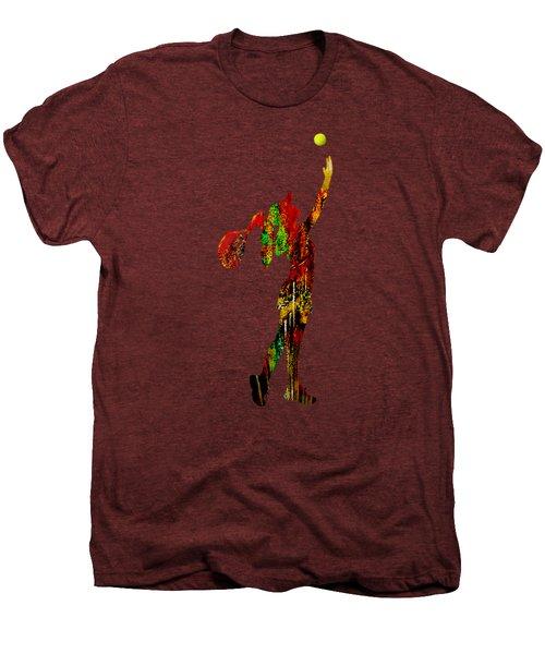 Womens Tennis Collection Men's Premium T-Shirt by Marvin Blaine