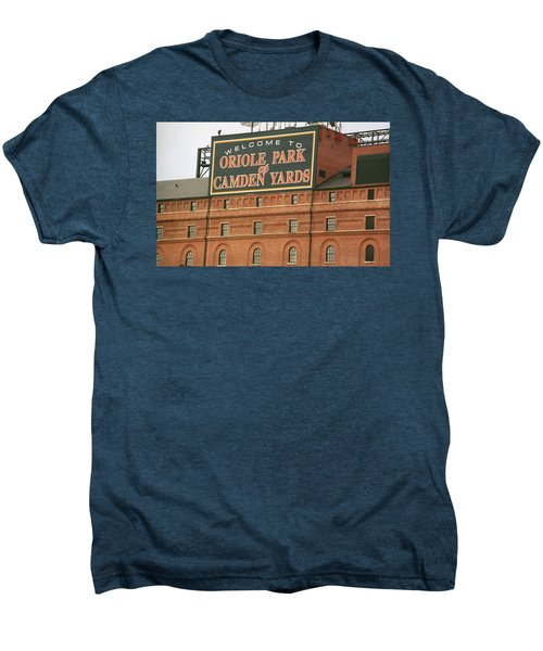 Baltimore Orioles Park At Camden Yards Men's Premium T-Shirt by Frank Romeo