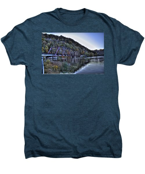 Bridge On A Lake Men's Premium T-Shirt