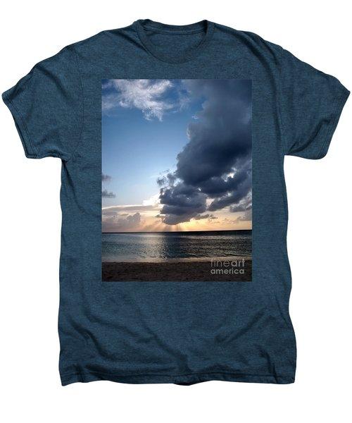 Caribbean Sunset Men's Premium T-Shirt by Peggy Hughes
