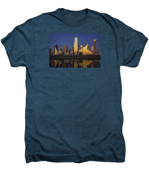 Dallas At Dusk Men's Premium T-Shirt by Rick Berk