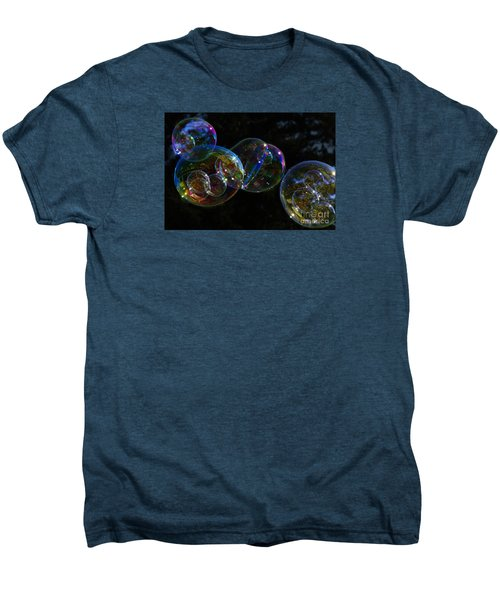 Men's Premium T-Shirt featuring the photograph Dark Bubbles With Babies by Nareeta Martin