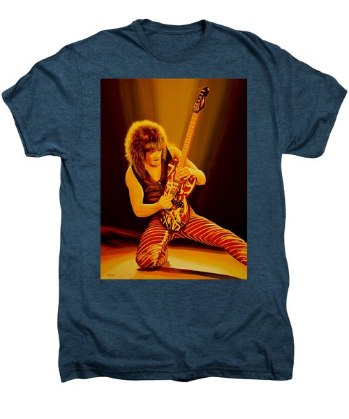Eddie Van Halen Painting Men's Premium T-Shirt by Paul Meijering