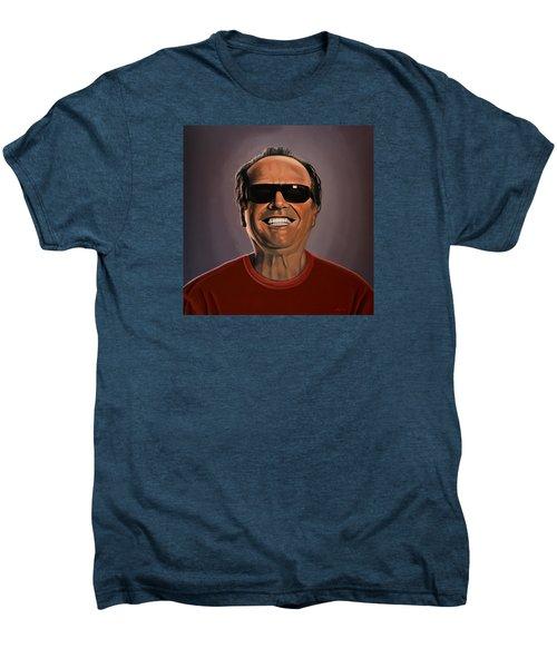 Jack Nicholson 2 Men's Premium T-Shirt by Paul Meijering