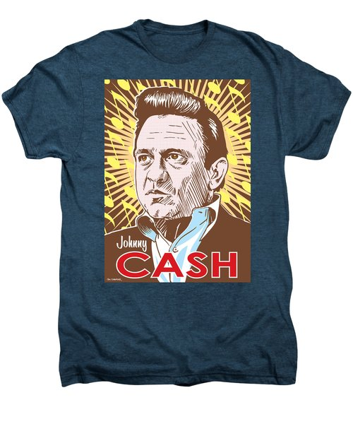 Johnny Cash Pop Art Men's Premium T-Shirt by Jim Zahniser