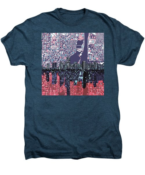 Miami Skyline Abstract Men's Premium T-Shirt