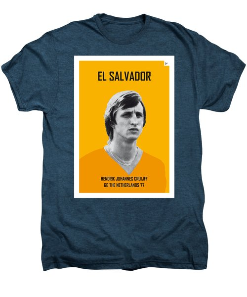 My Cruijff Soccer Legend Poster Men's Premium T-Shirt by Chungkong Art
