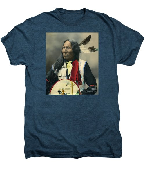 Oglala Chief Strikes With Nose 1899 Men's Premium T-Shirt