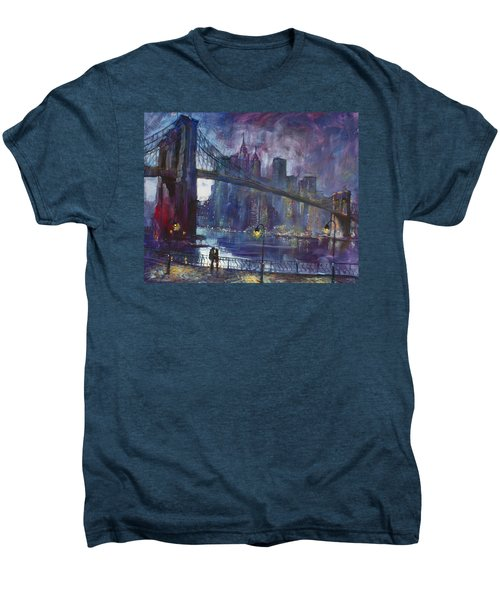 Romance By East River Nyc Men's Premium T-Shirt by Ylli Haruni