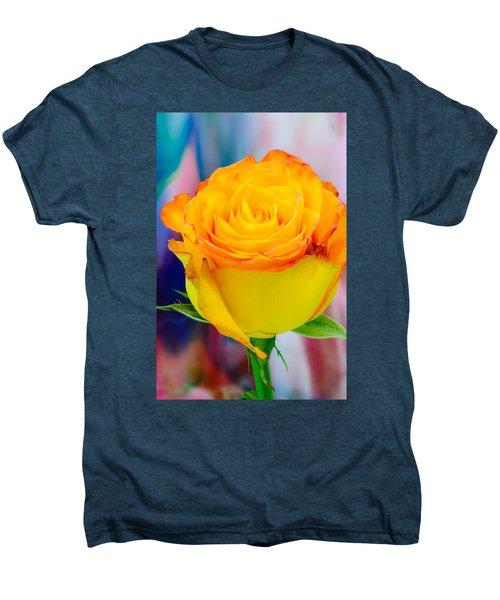 Yellow Rose Macro Men's Premium T-Shirt