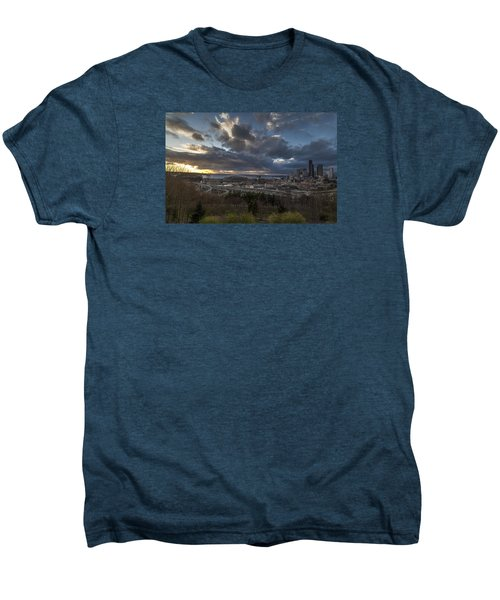 Seattle Dramatic Dusk Men's Premium T-Shirt by Mike Reid