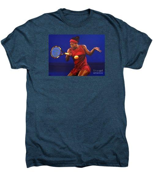 Serena Williams Painting Men's Premium T-Shirt by Paul Meijering