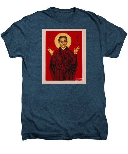 St. Aloysius In The Fire Of Prayer 020 Men's Premium T-Shirt