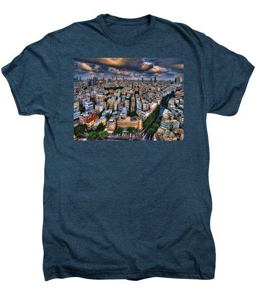 Tel Aviv Lookout Men's Premium T-Shirt by Ron Shoshani