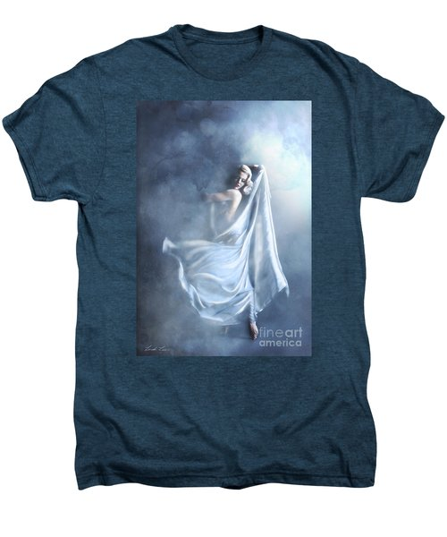 Men's Premium T-Shirt featuring the digital art That Single Fleeting Moment When You Feel Alive by Linda Lees