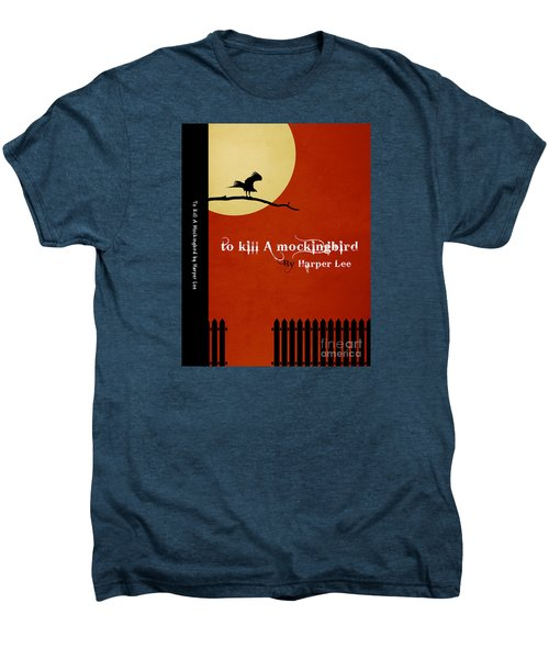 To Kill A Mockingbird Book Cover Movie Poster Art 1 Men's Premium T-Shirt by Nishanth Gopinathan