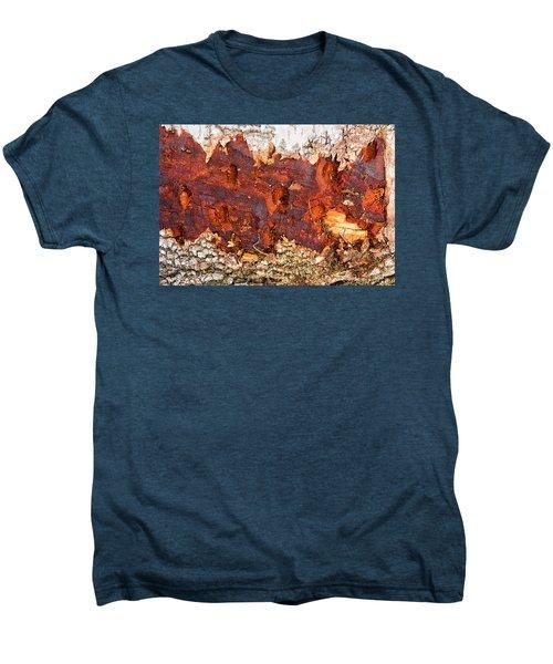 Tree Closeup - Wood Texture Men's Premium T-Shirt by Matthias Hauser