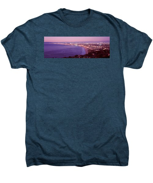 View Of Los Angeles Downtown Men's Premium T-Shirt by Panoramic Images