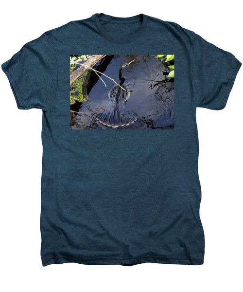 Swimming Bird Men's Premium T-Shirt by David Lee Thompson